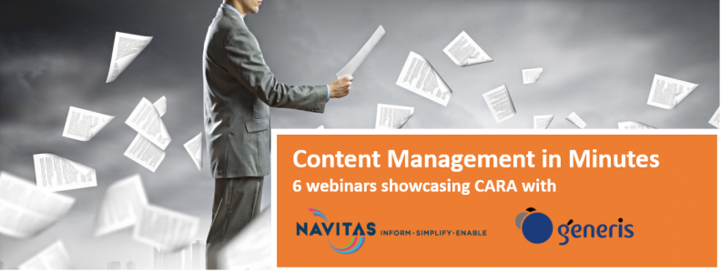 Content Management in Minutes – six 30-minute webinars on CARA